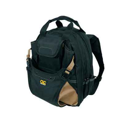CLC Custom Leathercraft 1134 Carpenter's Tool Backpack with 44 Pockets and Padded Back Support