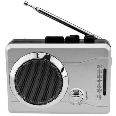 DigitNow! Mini Audio Retro Cassette Player Wireless AM/FM Radio and Voice Radio Cassette Recorder with Earphones