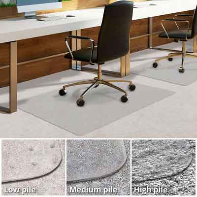 Office Chair Mat for Carpeted Floors | Desk Chair Mat for Carpet | Clear PVC mat in different thicknesses and sizes for every pile type | Low-Pile 36