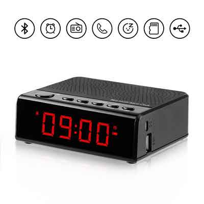 Alarm Clock Radio with Audio Bluetooth Speaker