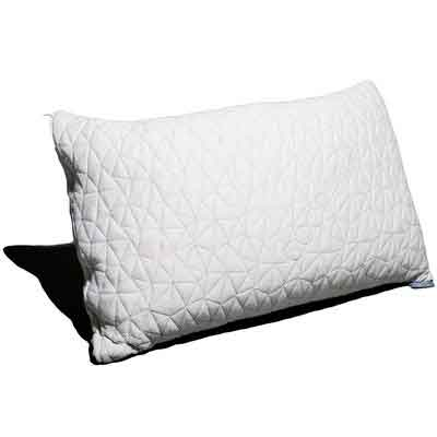 Coop Home Goods - PREMIUM Adjustable Loft - Shredded Hypoallergenic Certipur Memory Foam Pillow with washable removable cooling bamboo derived rayon cover -Queen