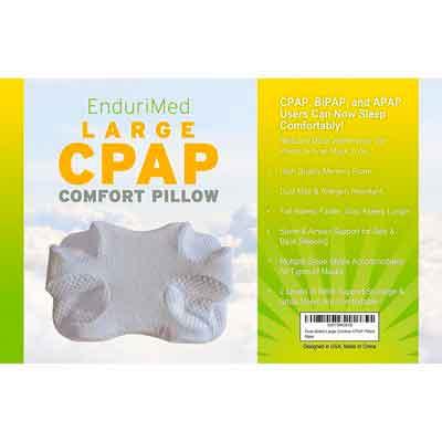 CPAP Pillow - New Memory Foam Contour Design Reduces Face & Nasal Mask Pressure
