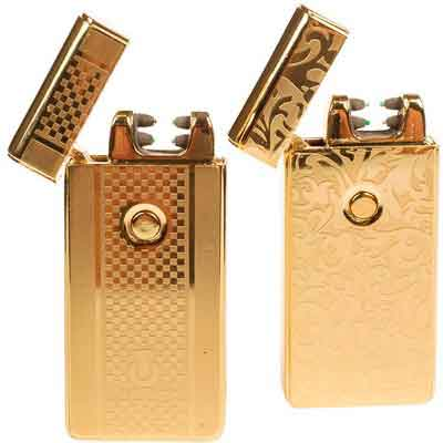 USB Lighters 2 Pack - Dual Arc Electronic Lighter Electric Plasma Lighter - Tesla Coil Rechargeable Cigarette Lighter 5 Designs