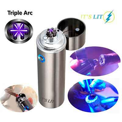 TRIPLE PLASMA LIGHTER - ELECTRIC PLASMA TRIPLE ARC LIGHTER -NEW WIDE ARC DESIGN FOR PIPES