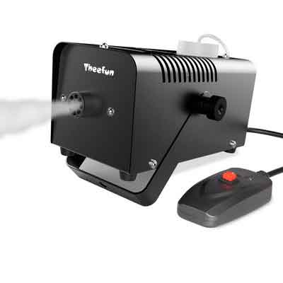 Theefun 400-Watt Portable Christmas and Party Fog Machine with Wired Remote Control for Holidays