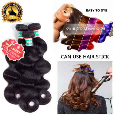 Human Body Wave 3 Bundles 8A Brazilian Virgin Hair Unprocessed Virgin Human Hair Extension Hair...