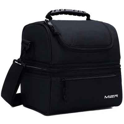 MIER Adult Lunch Box Insulated Lunch Bag Large Cooler Tote Bag for Men