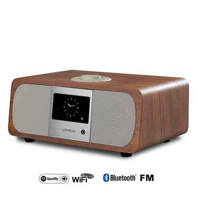 M3+ Wi-Fi/DLNA/Spotify connect /Internet Radio/ FM radio with Bluetooth and Clock 2.1 Speaker system
