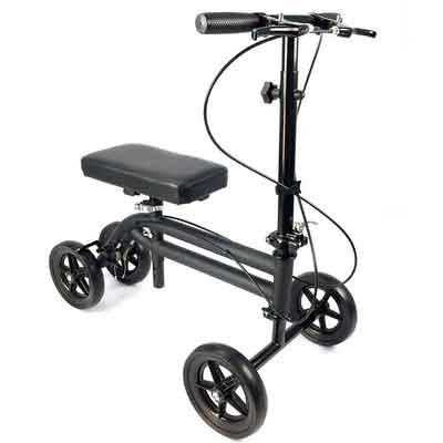 KneeRover Economy Knee Scooter Steerable Knee Walker Crutch Alternative with DUAL BRAKING...
