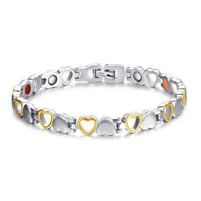 Magnetic Therapy Bracelet Titanium Magnet Bracelets for Women Arthritis and Joint Pain 8.3