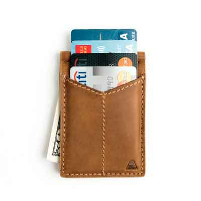 Andar Mens Leather Money Clip