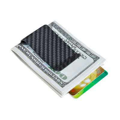 Carbon Fiber Money Clip Credit Card holder-CL CARBONLIFE Business Card Holder Clips for men
