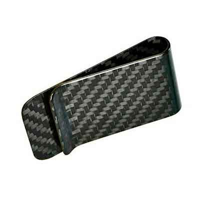 Genuine Carbon Fiber Glossy Money Clip Credit Card Business Card Holder