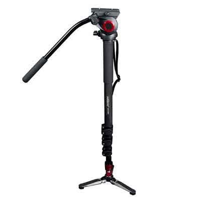 miliboo MTT705B Carbon Fiber Portable Fluid Head Camera Monopod for Camcorder/DSLR Stand Professional Video Tripod 72