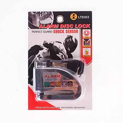 Iztoss Motorcycle security Disc Lock Anti Thief throttle Alarm chain lock
