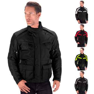 Viking Cycle Enforcer Armored Adventure Touring Textile Motorcycle Jacket For Men