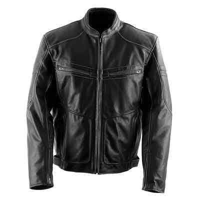 Black Brand Men's Leather Cutthroat Motorcycle Jacket