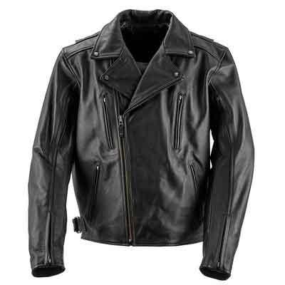 Black Brand Men's Leather Neanderthal Motorcycle Jacket