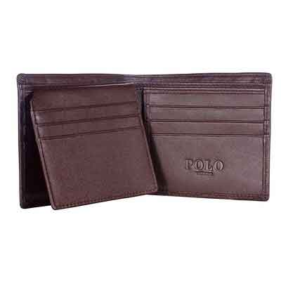 VIDENG POLO W18 RFID Blocking Top Genuine Leather Wallet for Men