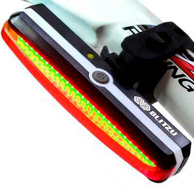 Ultra Bright Bike Light Blitzu Cyborg 168T USB Rechargeable Bicycle Tail Light. Red High Intensity Rear LED Accessories Fits On Any Road Bikes