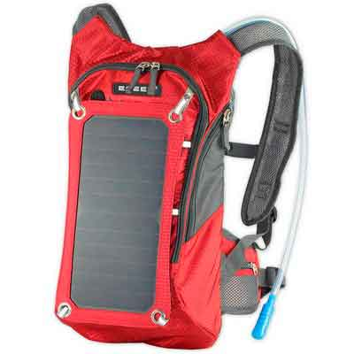 ECEEN Hydration Solar Backpack 7 Watts Solar Panel Charger with 2L Bladder Bag For Biking Charging Mobile Phones