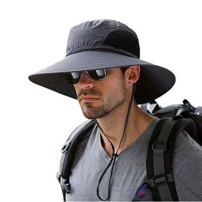 Men's Wide Brim Sun Hat