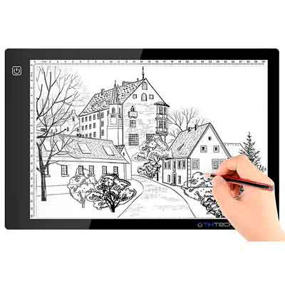 A4 Ultra-thin Portable LED Light Box Tracer USB Power Cable Dimmable Brightness LED Artcraft Tracing Light Pad for Artists Drawing Sketching Animation Stencilling X-rayViewing.DONT BUY FM
