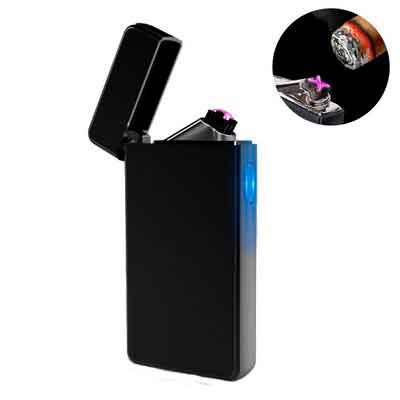 Dual Arc Plasma Lighter USB Rechargeable Windproof Flameless Butane Free Electric Lighter for...