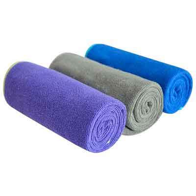 Sinland Multi-purpose Microfiber Fast Drying Travel Gym Towels 3-pack