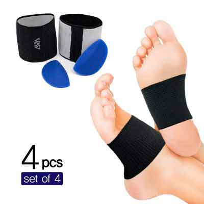 Copper Arch-Support Brace & Detacheable Soft Gel Cushions