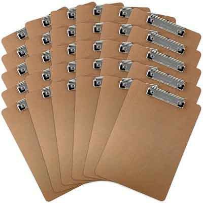 Trade Quest Letter Size Clipboard Low Profile Clip Hardboard