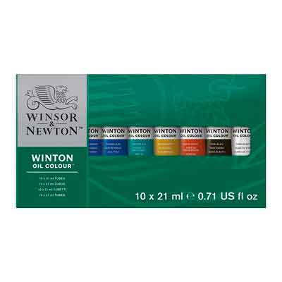 Winsor & Newton Winton Oil Colors Set - Basic 10 Color Set.
