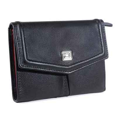 Elegant Two-tone Ladies Bifold - RFID Blocking Ladies Wallet - RFID Wallets for Women