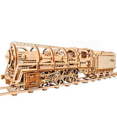 Ugears Locomotive with Tender Model