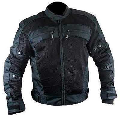 Xelement CF380 Mens Black Armored Mesh Jacket - 2X-Large