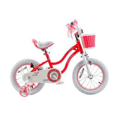 RoyalBaby Stargirl Girl's Bike with Training Wheels and Basket