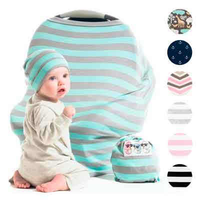 Cool Beans Stretchy Baby Car Seat Canopy and Nursing Cover | Multiuse - Soft and stretchy fabric...