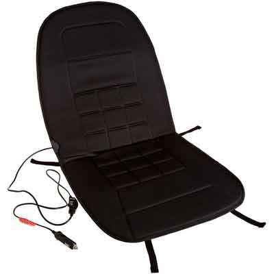 AmazonBasics 12-Volt Heated Seat Cushion with 3-Way Temperature Controller - Polyester