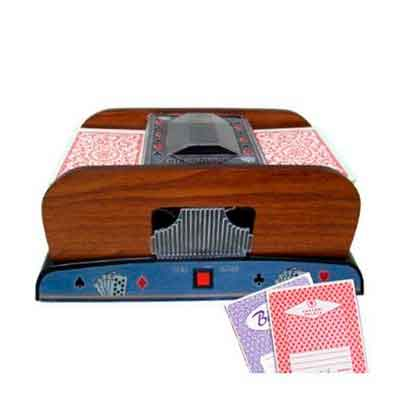 1-2 Deck Deluxe Wooden Card Shuffler - 2 Free Real Casino Decks by Brybelly