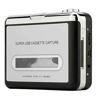 Reshow Cassette Player  Portable Tape Player Captures MP3 Audio Music via USB