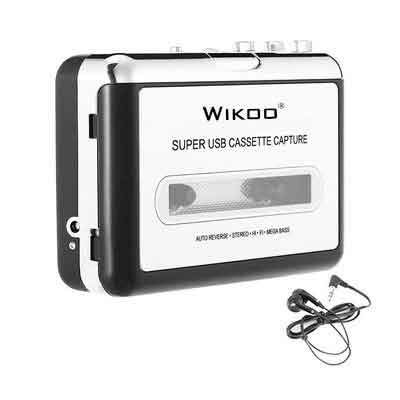 Cassette to MP3 Converter,Wikoo USB Cassette Converter Cassette Player with Earphone