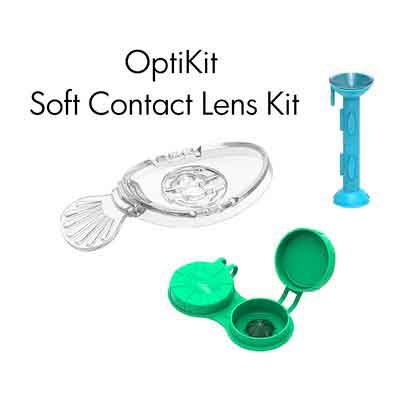 OptiKit - 1 OptiWand - soft contact lens insertion & removal tool + 1 OptiAide Eye drop applicator...