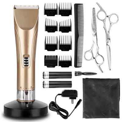 Hair Clippers Hair Trimmer Cordless Hair Clipper Set Quiet Electric Hair Shaver for Men and Babies...