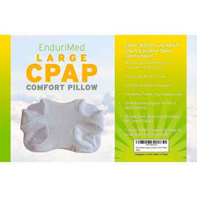 CPAP Pillow - New Memory Foam Contour Design Reduces Face & Nasal Mask Pressure