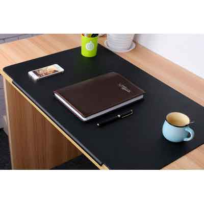 LOHOME Desk Pads Artificial Leather Laptop Mat with Fixation Lip