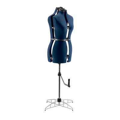 Singer DF251 13 Key Adjustable Medium/Large Dress Form Blue