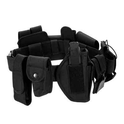 Lixada Modular Duty Belt Police Security Law Enforcement Tactical Equipment System Utility Belt  with Pistol/Gun Holster