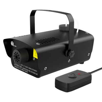 1byone Halloween Fog Machine with Wired Remote Control