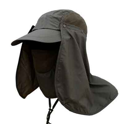 Deruicent Fishing Hat Folding Sun Hat 360° UV Protection Adjust Cap for Men Women Hiking Fishing Outdoor Yard Garden Working