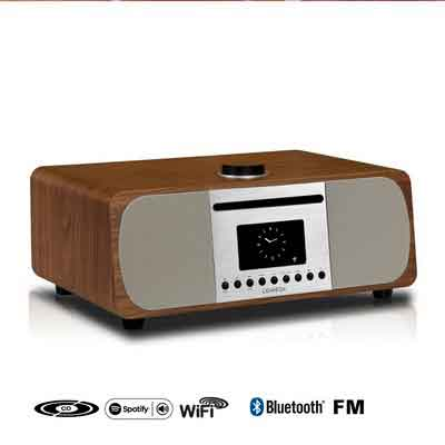 LEMEGA M5+ CD/Wi-Fi/DLNA/Spotify connect /Internet RadioFM radio with Bluetooth and Clock2.1 Speaker system